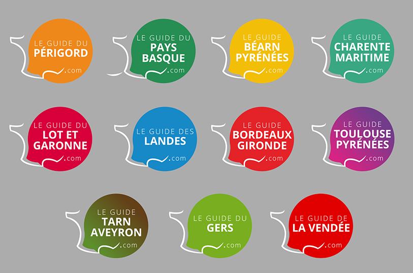 Création de nouveaux logos pour les Guides touristiques en ligne Negocom Atlantique